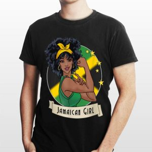 Strong Girl Jamaican Flag shirt