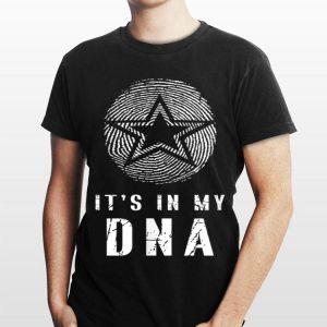 Texas Cowboy Fingerprint with Lonestar Its In My DNA shirt