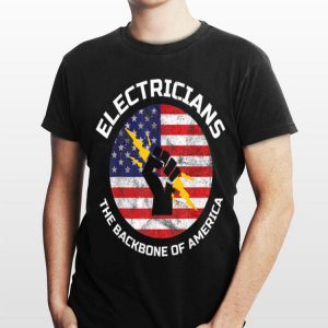 USA Flag Electricians The Backbone Of America shirt