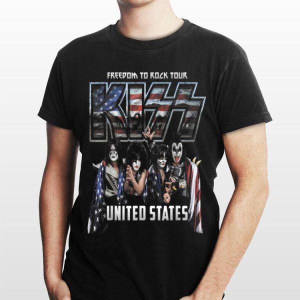 United States Freedom To Rock Tour Kiss Band American Flag shirt
