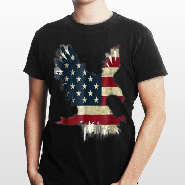 United States Of American Usa Flag Flying Eagle 4th Of July Independence shirt