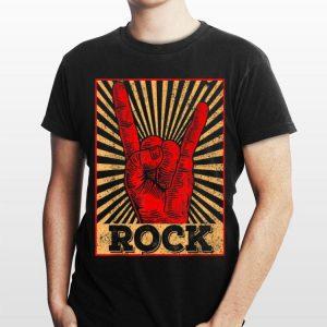 Vintage Rock N Roll Hand Sign shirt