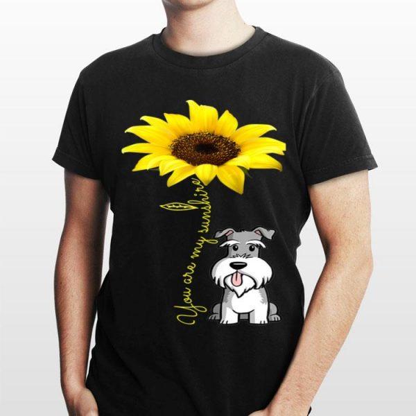 You Are my Sunshine Schnauzer Sunflower shirt