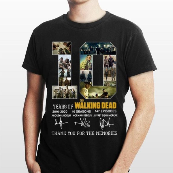 10 Years Of The Walking Dead Thank You For The Memories Signature shirt