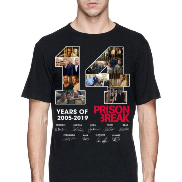 14 Years Of Prison Break 2005 2019 signature shirt