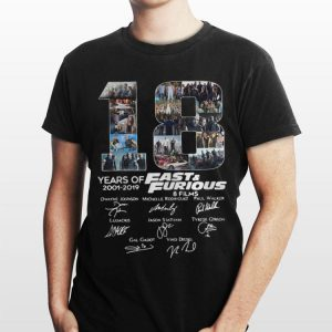 18 Years Of Fast And Furious 8 Films Signature shirt
