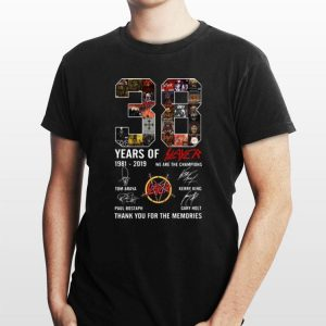 38 Years Of Slayer 1981-2019 signature shirt