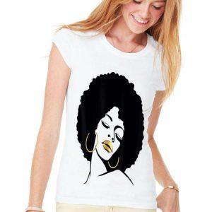 Afro Diva Black Girl Magic Gold Lips shirt
