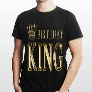 Birthday King Gold Crown shirt