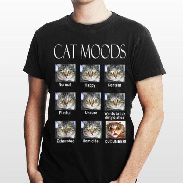 Cat Moods Cucumber shirt