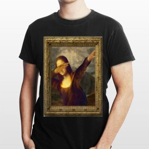 Dabbing Mona Lisa Painting shirt