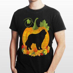 Halloween Newfoundland Dog Pumpkin shirt
