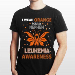 I Wear Orange For My Nephew Leukemia Awareness shirt