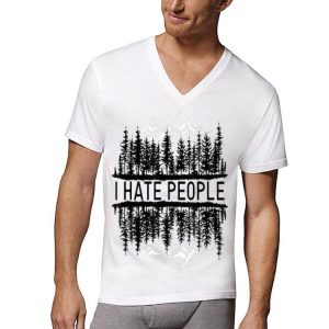 I hate people upside down forest shirt