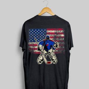 Ice Hockey Goalie USA Flag shirt