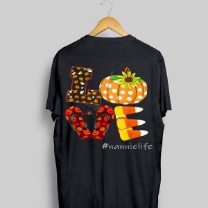 Love Nannie Life Pumpkin Flip Flops Halloween shirt