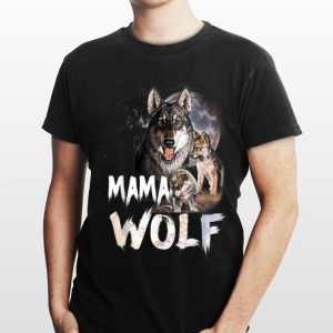 Mama Wolf Family Wolves Moon Mom shirt