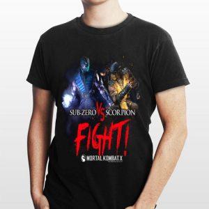 Mortal Kombat X Sub Zero Scorpion Fight shirt