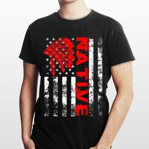 Native American Day Vintage USA Flag shirt