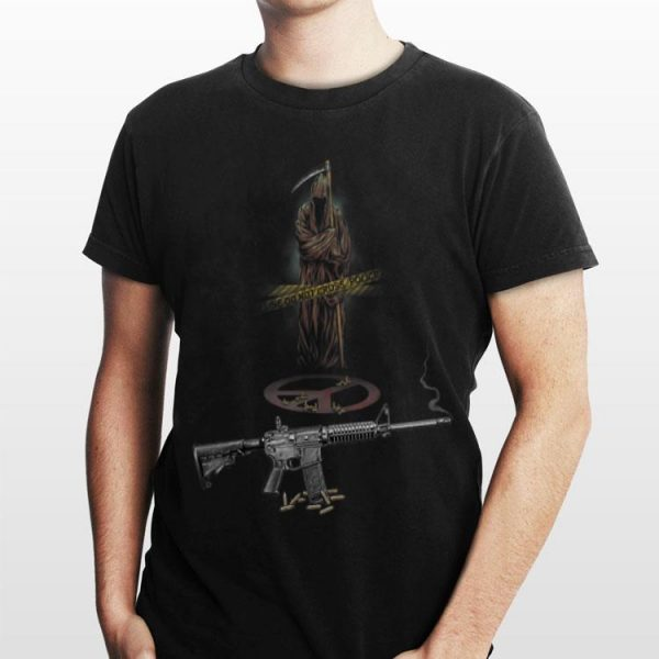Never Be Peace Grim Reaper AR-15 shirt