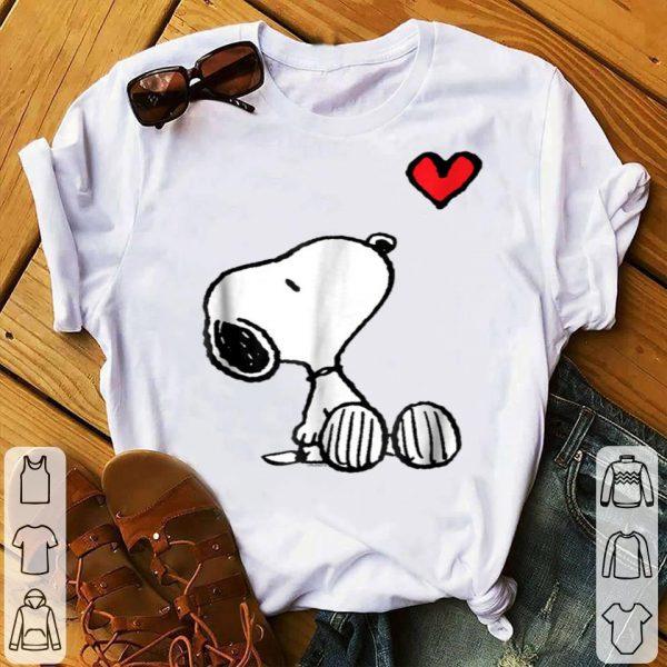 Peanuts Heart Sitting Snoopy shirt