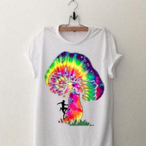 Person Climbing Tie Dye Mushroom shirt