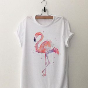 Pink Flamingo Watercolor shirt
