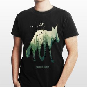 Preserve and Protect Vintage National Park Fox Forest shirt