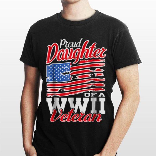 Proud Daughter Of A WWII Veteran American Flag shirt