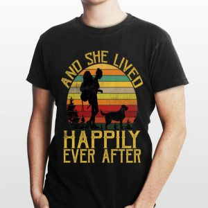 She Lived Happily Ever After Camping Dog Vintage shirt