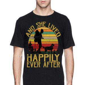 She Lived Happily Ever After Camping Dog Vintage shirt