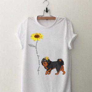 Sunflower You Are My Sunshine Tibetan Mastiff shirt
