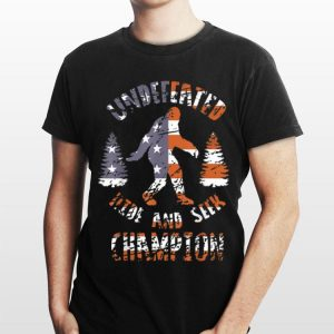 Undefeated Hide And Seek Champion Bigfoot America Flag shirt