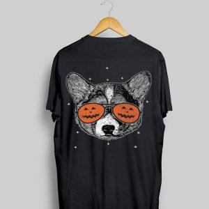 Welsh Corgi Pumpkin Sunglasses Halloween shirt