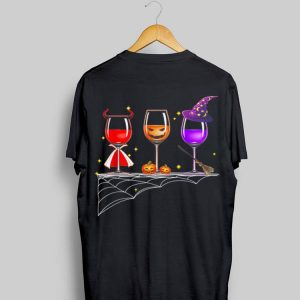 Wine Glass Of Witchcraft Halloween shirt