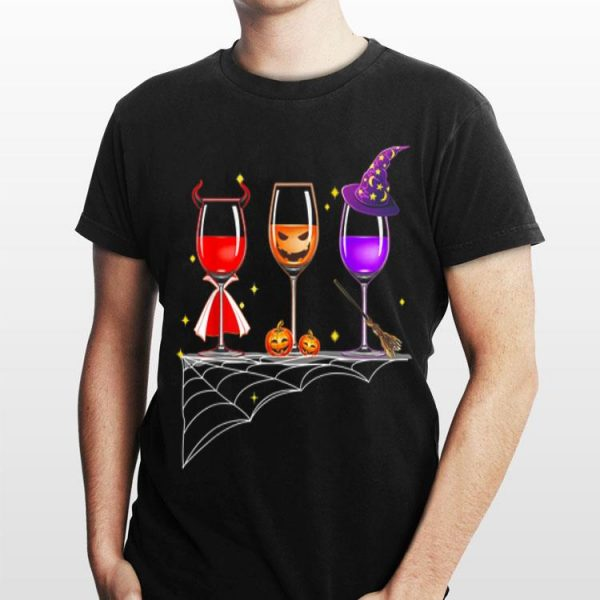Wine Glass Of Witchcraft Halloween shirt