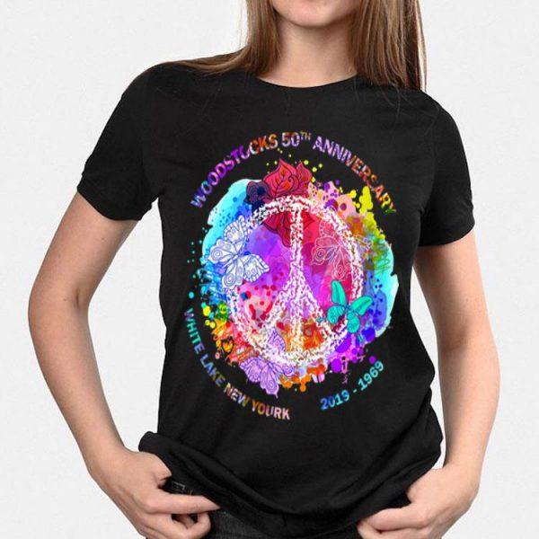 Woodstock's 50th Anniversary White Lake New York Peace shirt