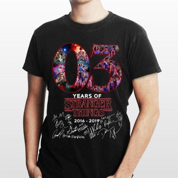 03 Years Of Stranger Things 2016-2019 Signatures shirt