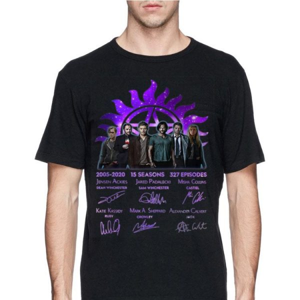 15 Years Of Supernatural 15 Seasons 327 Episodes Signature shirt