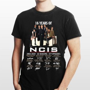 16 Years Of NCIS 2003-2019 16 Seasons 377 Episodes Signature shirt