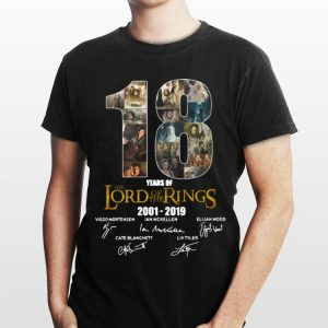 18 Years Of The Lord Of The Rings 2001-2019 Signatures shirt
