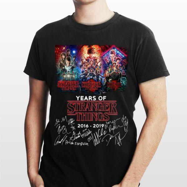 3 Season 3 Years Of Stranger Things 2016-2019 Signatures shirt