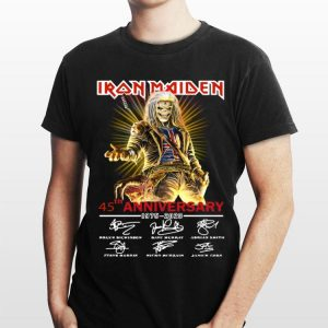 45th Anniversary 1975-2020 Iron Maiden Signatures shirt