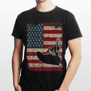 Airboat America Flag I Patriotic Airboat Captain Racing shirt
