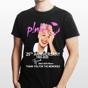 Alecia Beth Moore Pink 25th Anniversary 1995-2020 Signature shirt