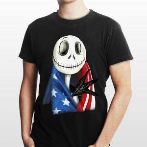 American Flag Jack Skellington shirt