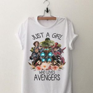 Avengers Just A Girl Who Loves Flower shirt