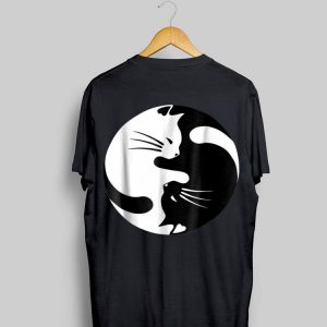 Black And White Cats Yin Yang Shape shirt