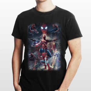 Captain America Shield Marvel Spider Man Far From Home shirt