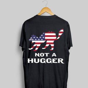 Cat Not A Hugger American flag shirt